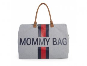 Přebalovací taška Mommy Bag Grey Stripes Red/Blue