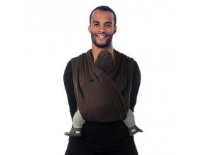 TRI - COTTI šátek na nošení dětí col.915 brown