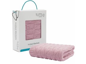 CoZee pletená deka - dusty pink