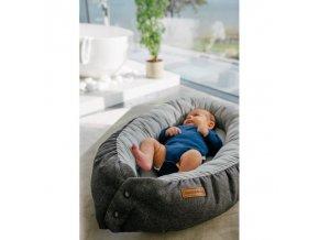 EV - Sleepy Viking - Hnízdečko pro miminka - grey