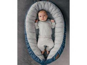 EV - Sleepy Viking - Hnízdečko pro miminka - blue