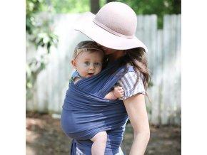 BOBA Nosič dětí / šátek Boba Wrap Vintage Blue