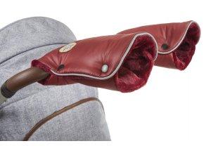 rukavice na kočár Mazlík bordová/bordová