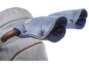 rukavice na kočár Mazlík 2021 ocelově modrá/modrá