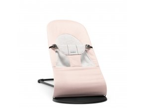 Lehátko Babybjorn Balance Soft Light Pink /Grey cotton Jersey