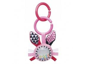 Canpol babies Šustící plyšová hračka s chrastítkem ZIG ZAG králík růžová