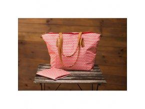 Canpol babies Přebalovací taška na kočárek pro maminky červená