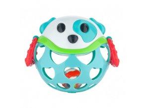 Canpol babies Interaktivní hračka míček s chrastítkem Modrý pejsek