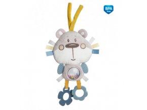 Canpol babies Plyšová edukační zavazovací hračka PASTEL FRIENDS šedý medvídek