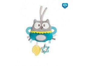 Canpol babies Plyšová edukační zavazovací hračka PASTEL FRIENDS tyrkysová sova