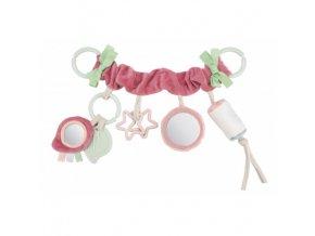 Canpol babies Závěsná hračka na kočárek/autosedačku  PASTEL FRIENDS růžová