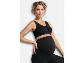 CARRIWELL Podprsenka těhotenská bezešvá - ČERNÁ