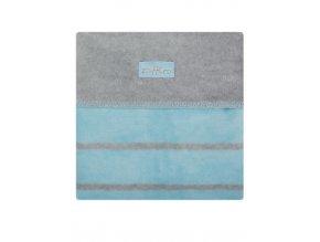 Dětská bavlněná deka Womar 75x100 šedo-modrá