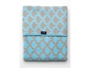 Dětská bavlněná deka se vzorem Womar 75x100 modro-šedá