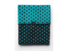 Dětská bavlněná deka se vzorem Womar 75x100 grafitovo-tyrkysová