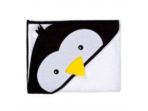 Dětská osuška Sensillo Water Friends 100x100 cm white pingwin