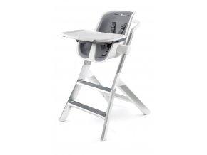 Jídelní židlička 4MOMS white/grey