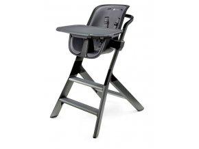 Jídelní židlička 4MOMS black/grey