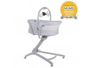 CHICCO Postýlka/lehátko/židlička Baby Hug Air 4v1 - Stone