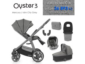 BabyStyle Oyster 3 luxusní set 6 v 1 - Mercury / City Grey