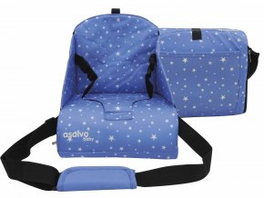 ANYWHERE booster na židli, stars blue