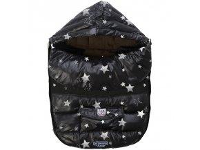 7AM Enfant Baby Shield fusak M, Print Black Stars