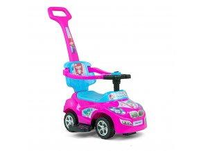 Dětské jezdítko 2v1 Milly Mally Happy pink-blue