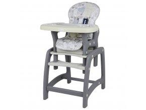 Jídelní židlička Baby Mix 2v1 Latte