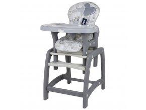 Jídelní židlička Baby Mix 2v1 Grey