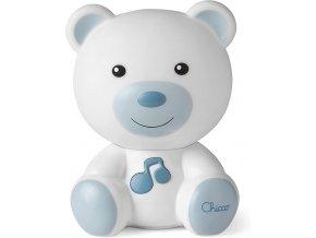 CHICCO Světélko noční hudební Medvídek modré 0m+
