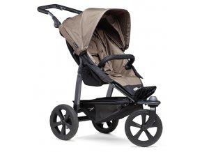 Mono stroller - air chamber wheel brown