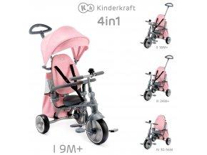 Tříkolka Jazz Pink Kinderkraft