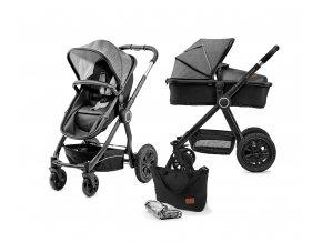 Kočárek kombinovaný Veo black/grey 2v1 Kinderkraft