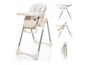 Dětská židlička Ivolia, Beige Grey