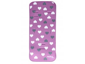 Podložka do kočárku 3D pink hearts