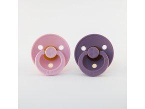 BIBS cumlíky z prírodného kaučuku 2ks - veľkosť 1 Baby Pink/Lavender