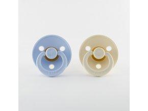 BIBS cumlíky z prírodného kaučuku 2ks - veľkosť 2 Baby Blue/Ivory