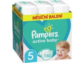 Měsíční zásoba plen Active Baby 5 JUNIOR 11-16kg 150ks Pampers