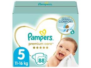 PAMPERS Premium Care 5 Junior 88 ks (11-16 kg) MEGA BOX – jednorázové pleny