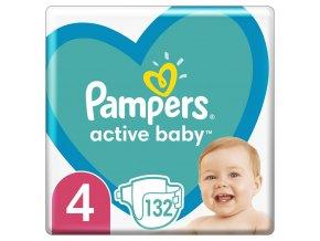 Plenky Active Baby 4 MAXI 9-14kg 132ks Pampers