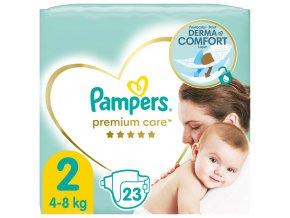 PAMPERS Premium Care 2 MINI (4-8 kg) 23 ks Carry Pack – jednorázové pleny