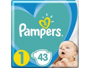 PAMPERS New Baby-Dry 1 (2-5 kg) 43 ks – jednorázové pleny