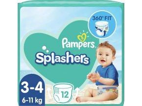 PAMPERS Pants Splashers Carry Pack vel. 3 (6-11 kg), 12 ks - jednorázové pleny do vody