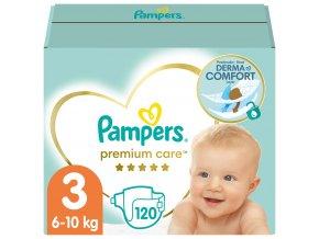 PAMPERS Premium Care 3 MIDI 120 ks (6-10 kg) MEGA Box - jednorázové pleny