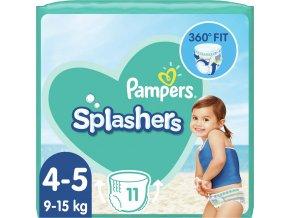 Pleny do vody Splashers 9-15kg 11ks Pampers