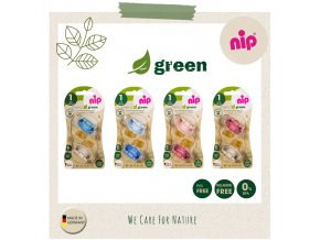 NIP GREEN line šidítko K,0-6m,2ks,mix barev