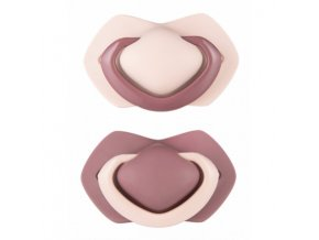 C - Canpol babies set symetrických silikonových dudlíků 18m+ PURE COLOR růžový