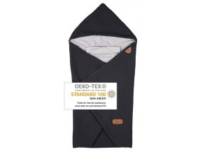 Baby Wrap dark grey star