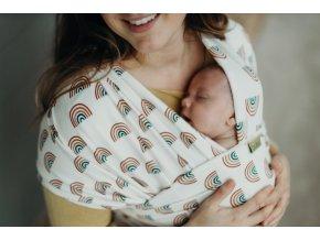 BOBA Nosič dětí / šátek Wrap Serenity Rainbows