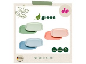 NIP GREEN line talířek, 2ks, mix barev